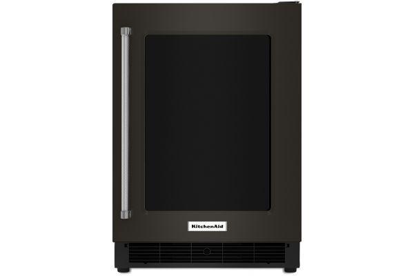 "Large image of KitchenAid 24"" Black Stainless Steel Undercounter Refrigerator - KURR304EBS"
