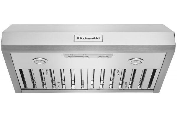 "Large image of KitchenAid 30"" Commercial-Style Under-Cabinet Range Hood - KVUC600JSS"