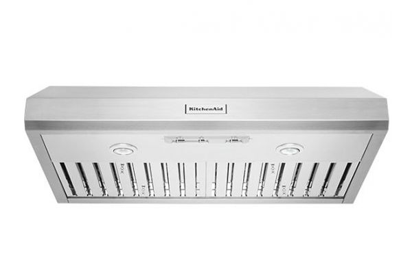 "Large image of KitchenAid 36"" Commercial-Style Under-Cabinet Range Hood - KVUC606JSS"