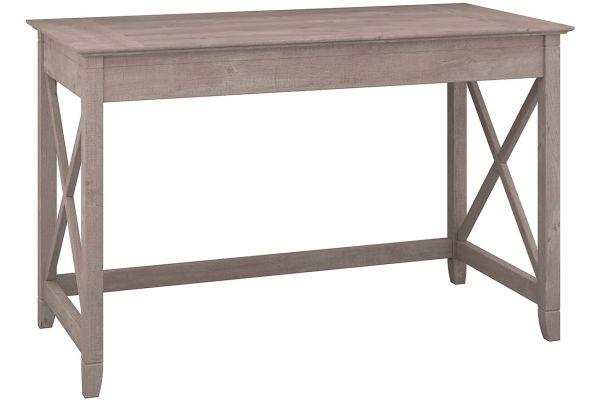 """Large image of Bush Furniture Key West 48"""" Collection Washed Grey Writing Desk - KWD148WG-03"""