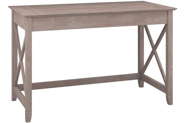 Bush Furniture Key West Collection Washed Grey 48W Writing Desk - KWD148WG-03