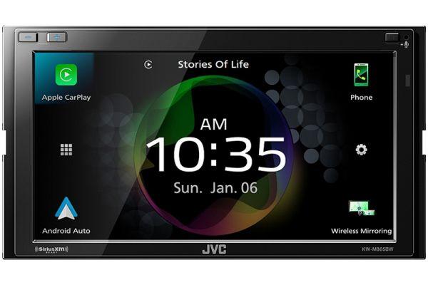 """Large image of JVC 6.8"""" Black Digital Media Receiver - KW-M865BW"""