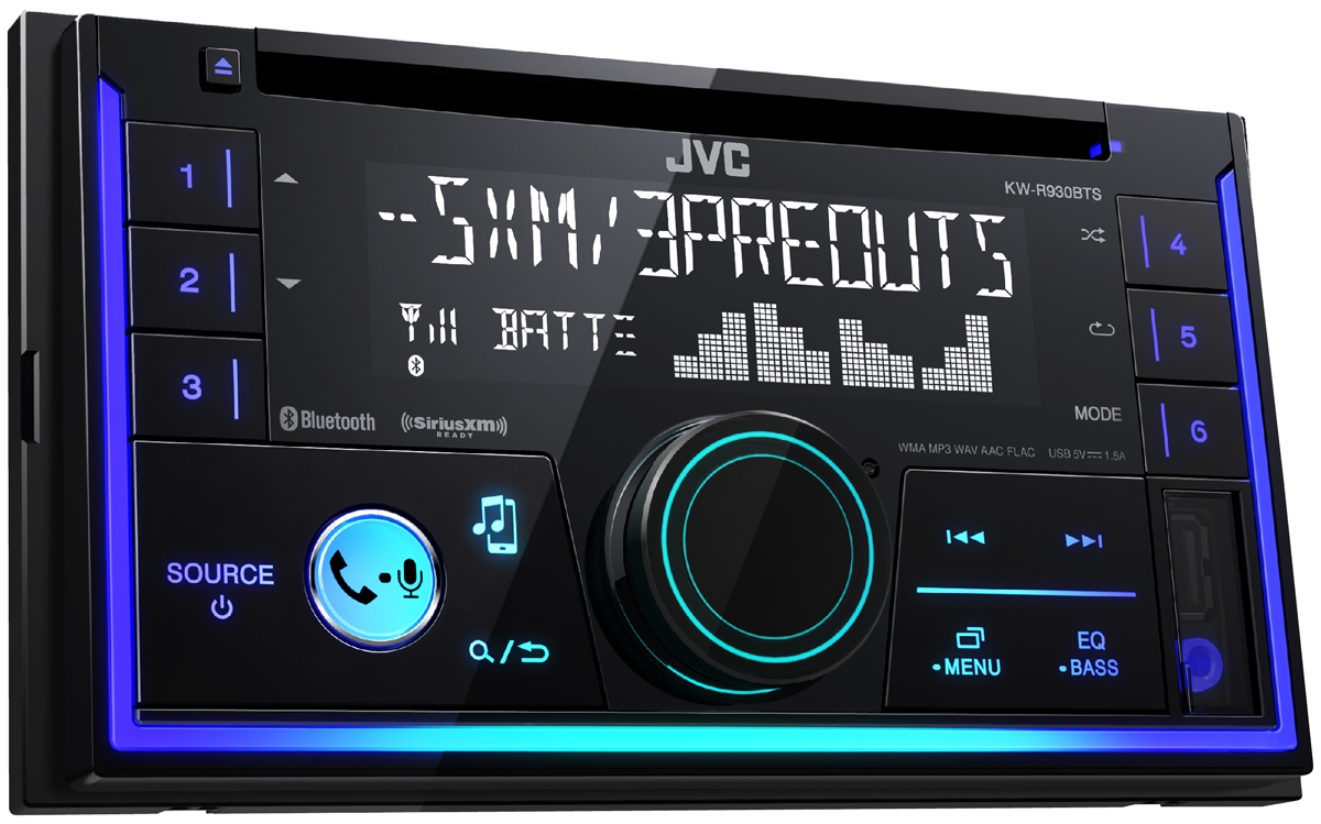 Jvc Double Din Bluetooth Car Stereo Kw R930bts