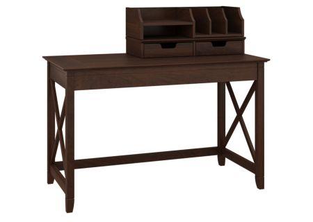 "Bush Furniture Key West Bing Cherry 48"" Writing Desk - KWS005BC"