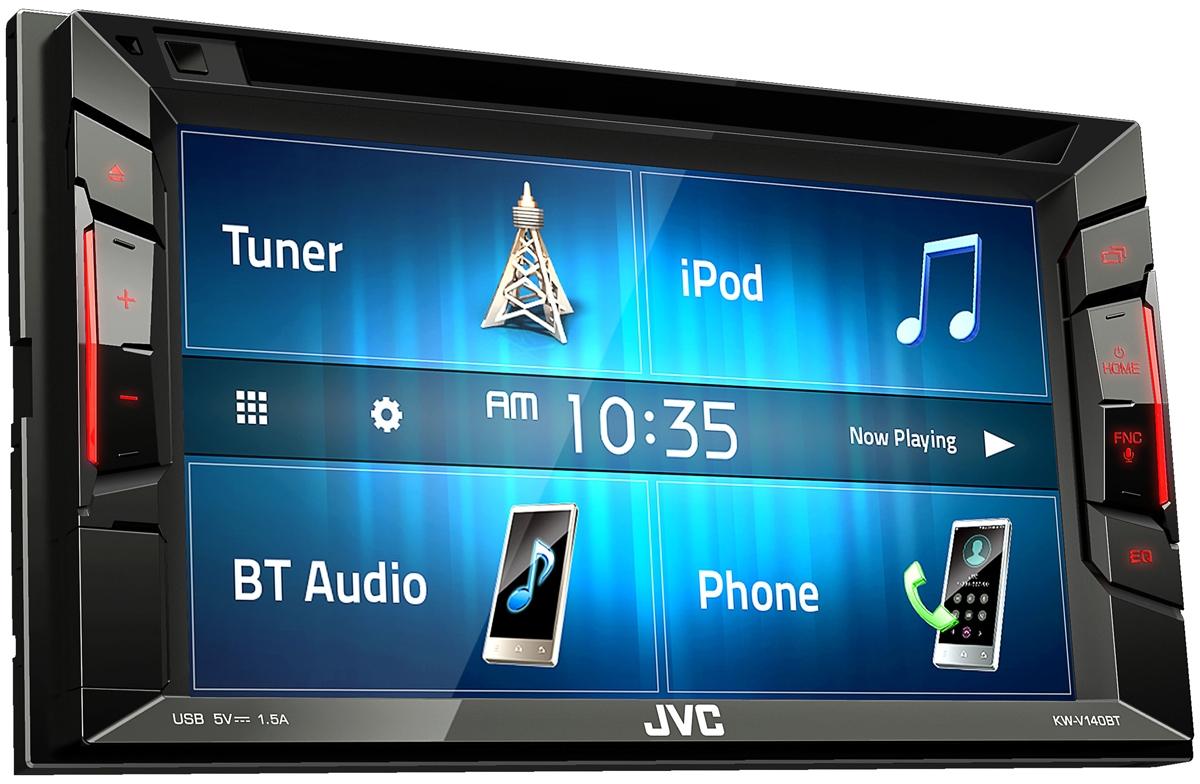 JVC Double DIN Multimedia Car Stereo - KW-V140BT