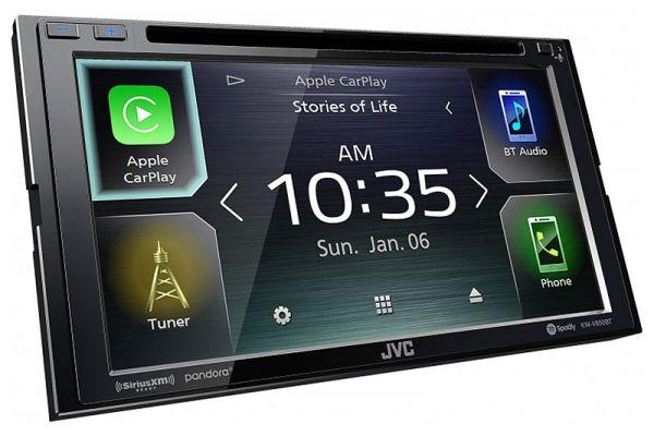 """JVC 6.8"""" Black Multimedia Receiver - KW-V850BT"""