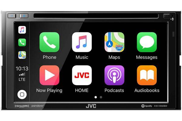 "JVC 6.8"" In-Dash Bluetooth DVD Receiver - KW-V950BW"