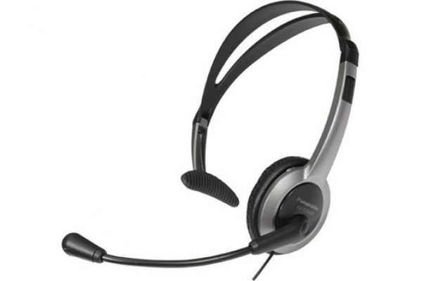Large image of Panasonic Hands-Free Black And Silver Headset - KX-TCA430