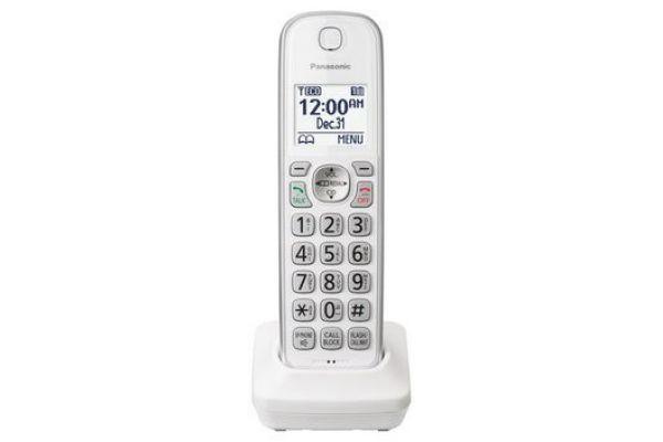 Large image of Panasonic White Accessory Handset - KX-TGDA50W1