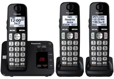 Panasonic - KX-TGE433B - Cordless Phones