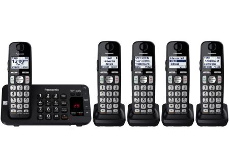 Panasonic - KX-TGE445B - Cordless Phones