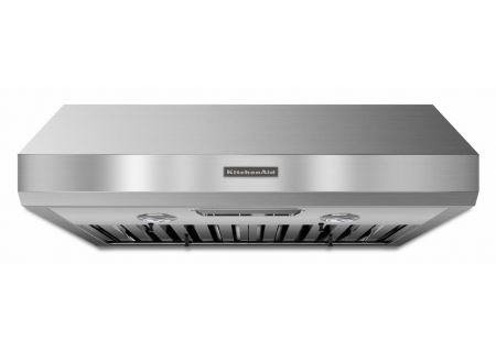 """KitchenAid 30"""" Stainless Steel Commercial-Style Series Under-The-Cabinet Wall Hood - KXU8030YSS"""