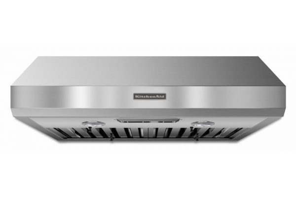 "KitchenAid 30"" Stainless Steel Commercial-Style Series Under-The-Cabinet Wall Hood - KXU8030YSS"