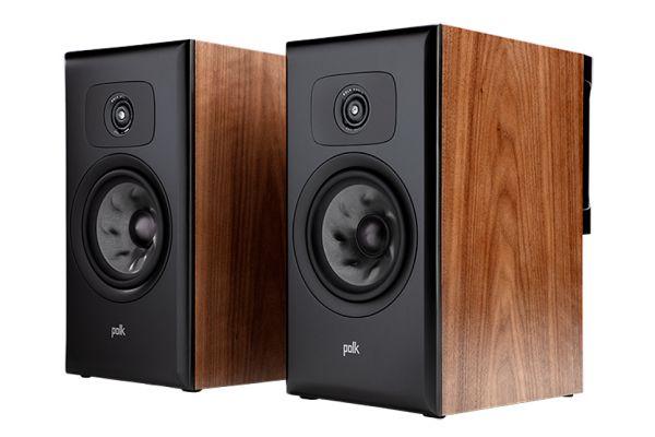 Large image of Polk Audio Legend Series L200 Premium Brown Walnut Bookshelf Speakers (Pair) - L200BR