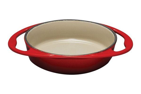 Large image of Le Creuset 2 Quart Cerise Heritage Tart Tatin Dish - L2129-2567