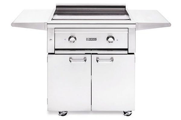 """Large image of Lynx Professional 30"""" Stainless Steel Natural Gas Cooktop Freestanding Grill - L30AGFNG"""