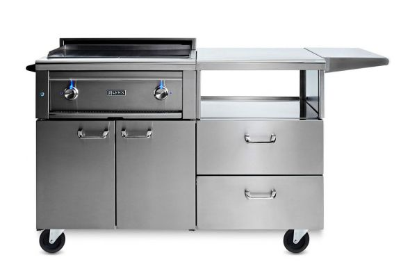 "Large image of Lynx Professional 30"" Liquid Propane Asado Cooktop On Mobile Kitchen Cart - L30AG-M-LP"
