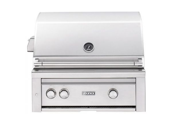 """Lynx Professional 30"""" Stainless Steel Natural Gas Built-In Grill With Rotisserie - L30R3NG"""