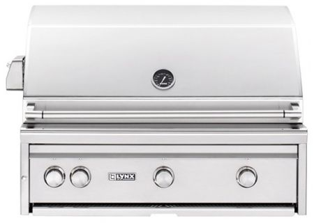 """Lynx Professional Built-In 36"""" ALL TRIDENT Stainless Steel Natural Gas Grill - L36ATRNG"""