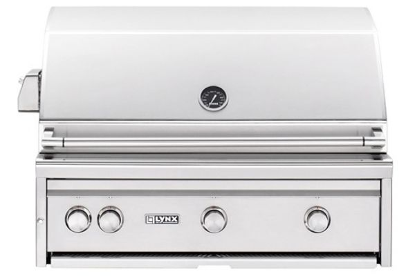 """Large image of Lynx Professional Built-In 36"""" Stainless Steel Rotisserie Natural Gas Grill - L36TRNG"""