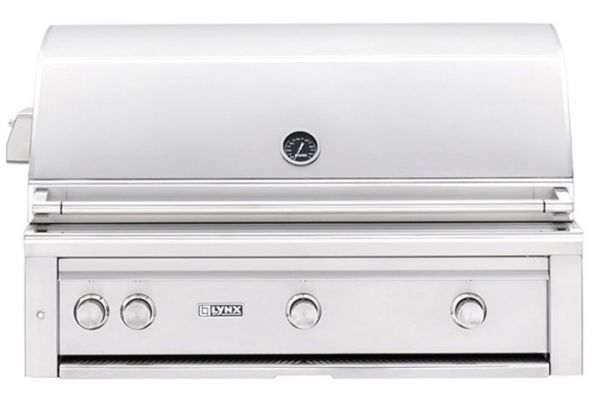 """Large image of Lynx Professional 42"""" Stainless Steel Natural Gas Built-In All Trident Grill With Rotisserie - L42ATR-NG"""
