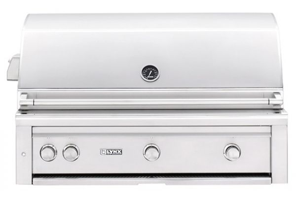 """Large image of Lynx Professional Built-In 42"""" Stainless Steel Rotisserie Natural Gas Grill - L42TRNG"""