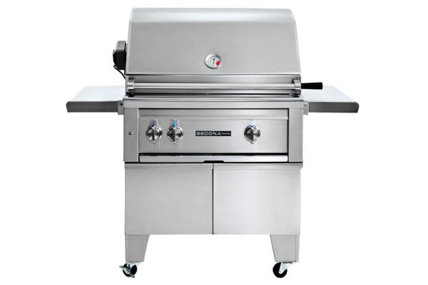 """Large image of Lynx 30"""" Stainless Steel Sedona Freestanding ADA Liquid Propane Gas Grill With Rotisserie - L500ADAR-LP"""