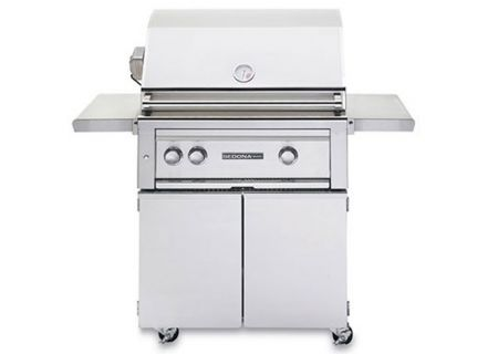 """Lynx Sedona 30"""" Stainless Steel Natural Gas Freestanding Grill With Rotisserie - L500FRNG"""