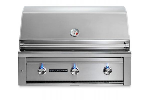 """Large image of Lynx Sedona Stainless Steel Built-In 36"""" Liquid Propane Grill - L600-LP"""