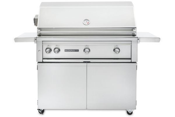 "Large image of Lynx Sedona 36"" Stainless Steel Natural Gas Freestanding Grill With ProSear & Rotisserie - L600PSFRNG"