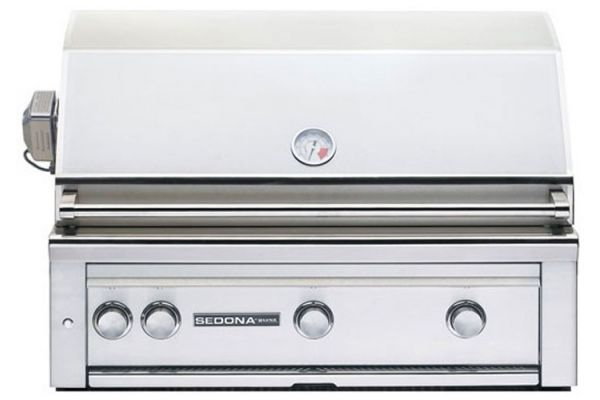 "Large image of Lynx Sedona 36"" Stainless Steel Natural Gas Built In Grill With ProSear & Rotisserie - L600PSRNG"