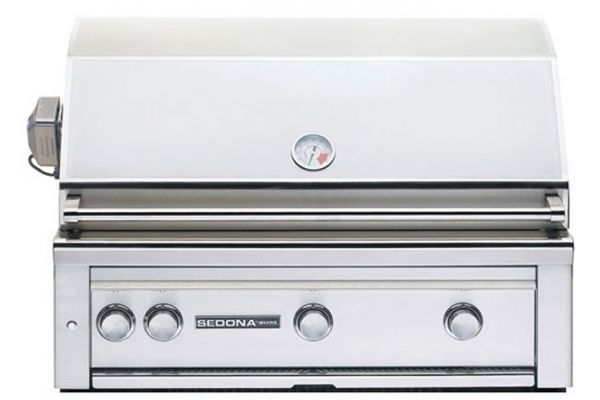 "Large image of Lynx Sedona 36"" Stainless Steel Natural Gas Built In Grill With Rotisserie - L600RNG"
