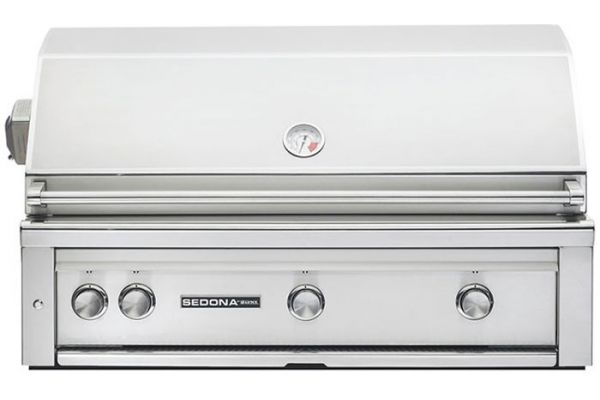 """Large image of Lynx Sedona 42"""" Stainless Steel Liquid Propane Built-In Grill With ProSear & Rotisserie - L700PSRLP"""