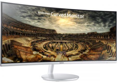 "Samsung 34"" Grey Curved LED Computer Monitor - LC34F791WQNXZA"