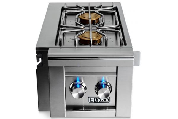 Lynx Professional Stainless Steel Natural Gas Cart Mounted Double Side Burner - LCB2-3NG