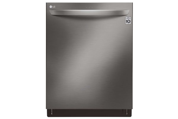 "LG 24"" PrintProof Black Stainless Steel Dishwasher With QuadWash And TrueStream - LDT6809BD"
