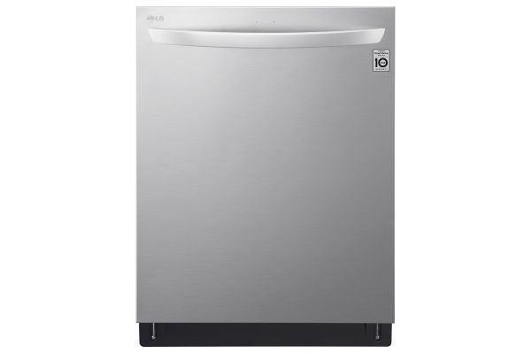 """Large image of LG 24"""" PrintProof Stainless Steel Top Control Smart Wi-Fi Enabled Dishwasher With QuadWash And TrueSteam - LDT7808SS"""