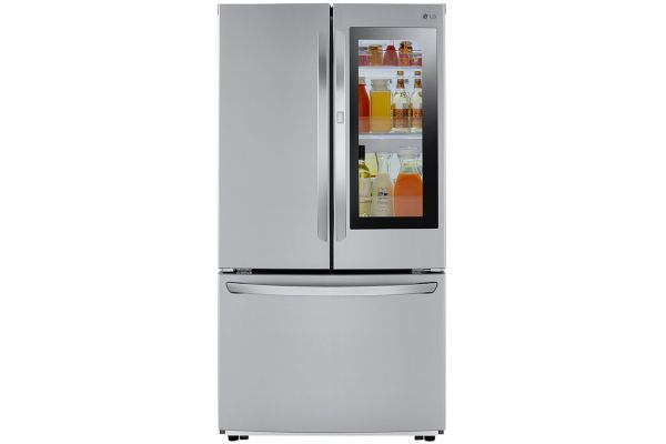 Large image of LG 23 Cu. Ft. PrintProof Stainless Steel InstaView Door-In-Door Counter-Depth Refrigerator - LFCC23596S
