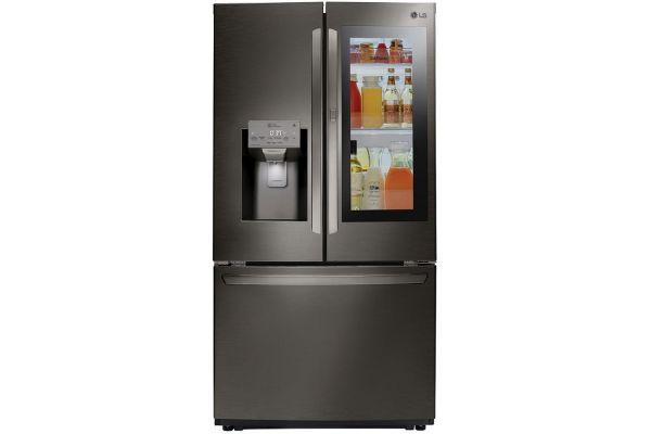 LG Instaview Door-in-Door 26.0 Cu. Ft. Black Stainless Steel Smart French Door Refrigerator - LFXS26596D