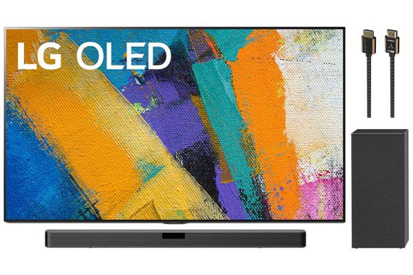 """LG 65"""" GX 4K HDR Smart OLED TV With AI ThinQ, Sound Bar and HDMI Cable Package - LGELPACK2"""