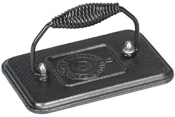 Large image of Lodge Cast Iron Rectangular Grill Press - LGP3