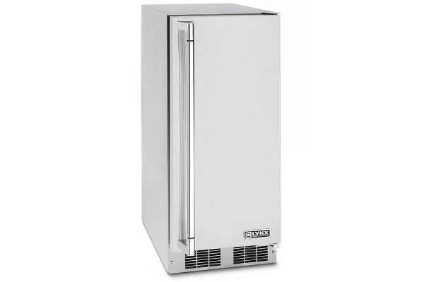 """Large image of Lynx 15"""" Professional Stainless Steel Right Hinge Outdoor Ice Machine - LM15ICER"""