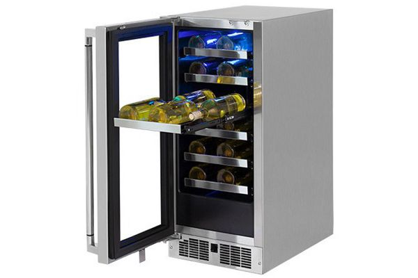 """Large image of Lynx 15"""" Professional Stainless Frame Left-Hinge Outdoor Wine Cellar - LM15WINEL"""