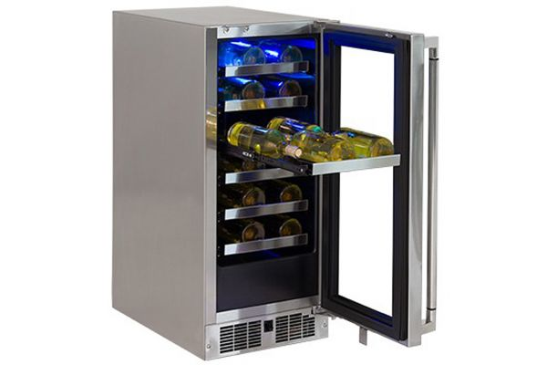 """Large image of Lynx 15"""" Professional Stainless Frame Right-Hinge Outdoor Wine Cellar - LM15WINE-R"""
