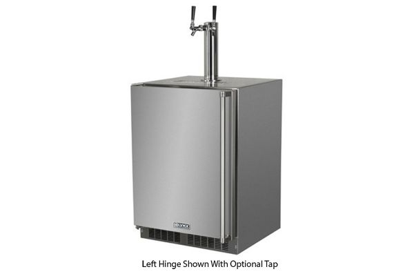 """Large image of Lynx 24"""" Professional Stainless Steel Right-Hinge Outdoor Beverage Dispenser - LM24BFR-1"""