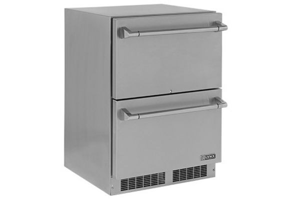 """Lynx Professional 24"""" Two Drawer Refrigerator - LM24DWR"""