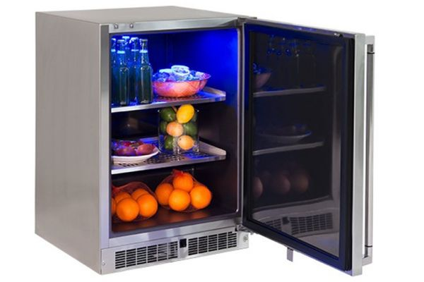 """Lynx Professional 24"""" Right Hinge Stainless Steel Outdoor Refrigerator - LM24REFR"""