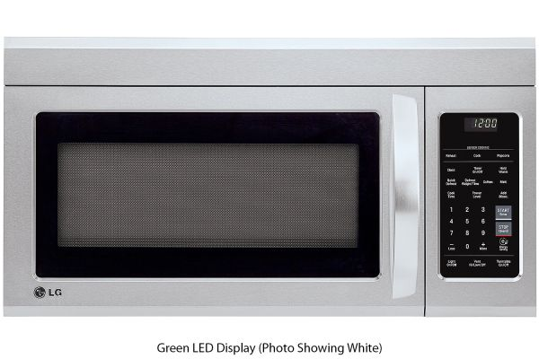 Large image of LG 1.8 Cu. Ft. PrintProof Stainless Steel Over-The-Range Microwave Oven With EasyClean - LMV1831SS