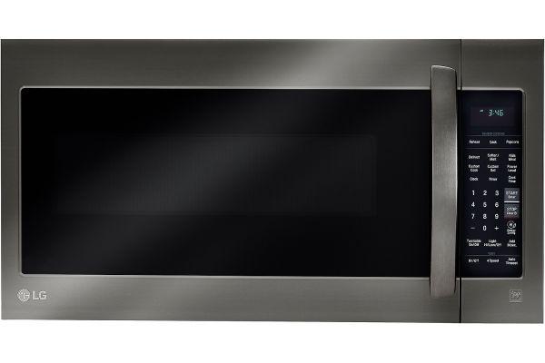 Large image of LG Black Stainless Steel Over The Range Microwave Oven - LMV2031BD