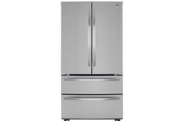 Large image of LG 27 Cu. Ft. PrintProof Stainless Steel 4-Door French Door Refrigerator - LMWS27626S